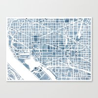 Washington DC Blueprint … Canvas Print