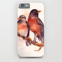 iPhone & iPod Case featuring Two Robins by Emily Swedberg (Ito Inez)