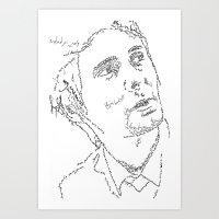 Matthew Bellamy WordsPor… Art Print