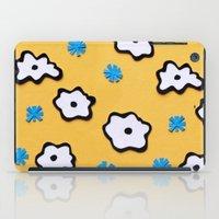 Dutch Flowers On Yellow iPad Case