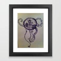 Jelly Octo Punk Framed Art Print