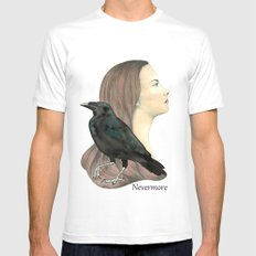 Nevermore Mens Fitted Tee SMALL White