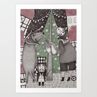Of Snow And Stars And Ch… Art Print