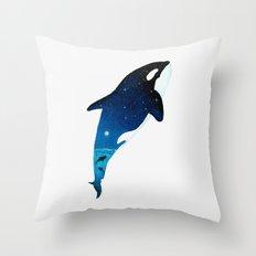 Starry Orca Throw Pillow