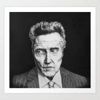 Portrait of Christopher Walken Art Print