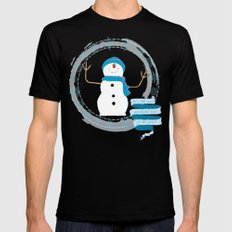 Christmas snowman Mens Fitted Tee SMALL Black