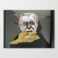 Bukowski & the age old fight Canvas Print