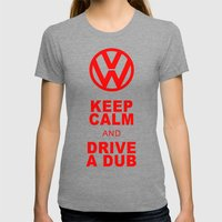 VW Drive A Dub Womens Fitted Tee Tri-Grey SMALL