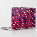 Mixed media and digital blue and pink pattern Laptop & iPad Skin