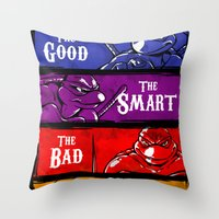 The Good, The Smart, The Bad and The Hungry Throw Pillow