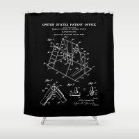 Playground Patent - Black Shower Curtain