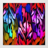 Feather Rainbow Canvas Print