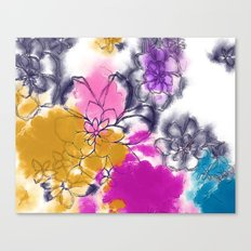 Abstract Flowers - Watercolour Paiting Canvas Print