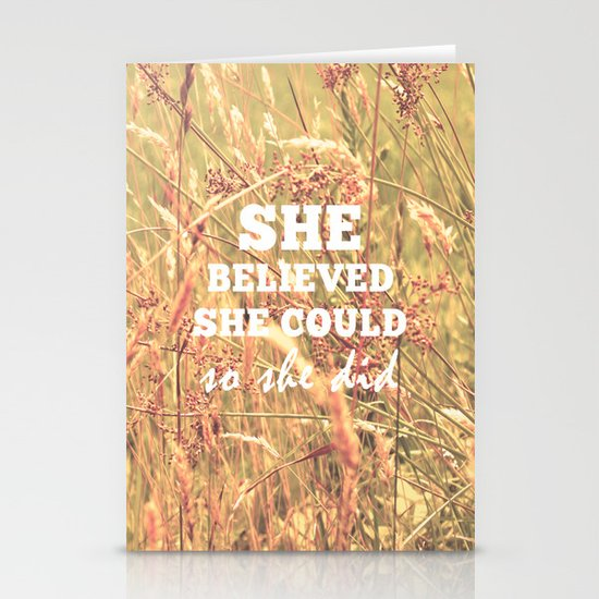 She Believed She Could  Stationery Card