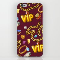 gold party  red iPhone & iPod Skin