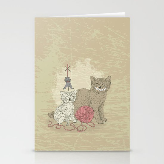 Naughty Cats Stationery Card
