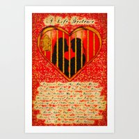 LOVE MY PERFECT PRISON  - 020 Art Print