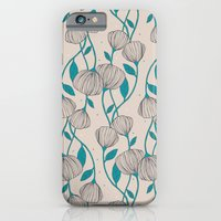 Blue Stem Flowers iPhone 6 Slim Case