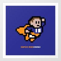 8-Bit: Super Man(ning) Art Print