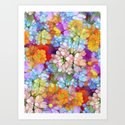 Rainbow Flower Shower Art Print