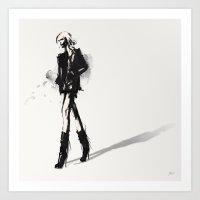 Fringe - Fashion Illustr… Art Print