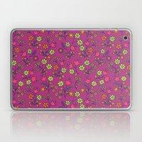 Retro Bloom Purple 2 Laptop & iPad Skin