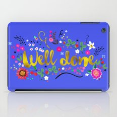 well done iPad Case