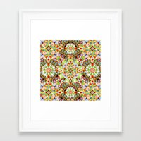 Circus Pastel Mandala Framed Art Print