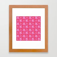 Purple Flower Power Framed Art Print