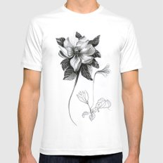 Flowers 2 SMALL White Mens Fitted Tee
