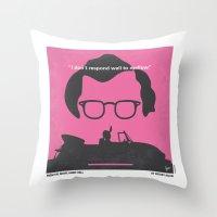 No147 My Annie Hall minimal movie poster Throw Pillow