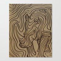 I see... a rhinoceros Canvas Print