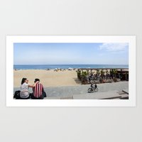 Barcelona beach Art Print