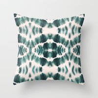 BOHEMIAN EMERALD SHIBORI Throw Pillow