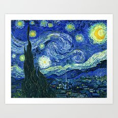 The Starry Night Vincent… Art Print