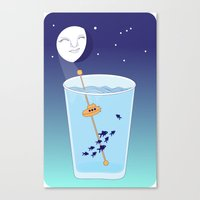 Waning Waterglass Moon - Submarine Canvas Print