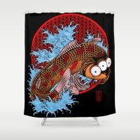 Blinky Shower Curtain