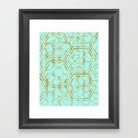 Hexagold Framed Art Print