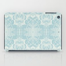 Floral Pattern in Duck Egg Blue & Cream iPad Case