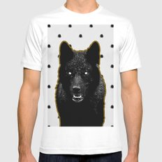 Just Wolf. Mens Fitted Tee White SMALL