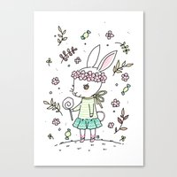 Summer Bunny Canvas Print