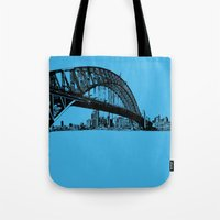 sydney in blue Tote Bag
