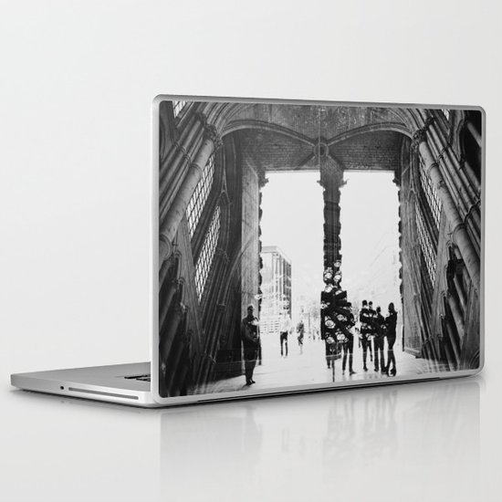 black and white cathedral Laptop & iPad Skin