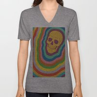 Trippy Rainbow Skull Unisex V-Neck