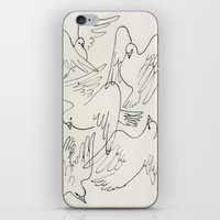 Doves flying iPhone & iPod Skin