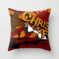 Christ Fu - Love Thy Unconscious Enemy Throw Pillow