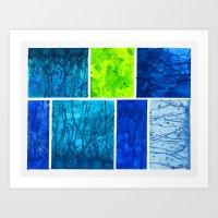 Blue Block Art Print
