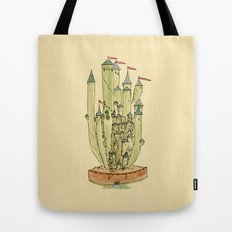 Castle Cactus Tote Bag