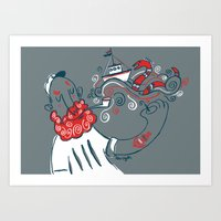 The Telling Sailor Art Print