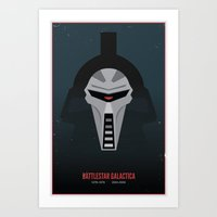 Battlestar Galactica - Old and New Art Print